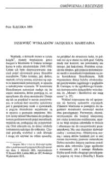 Dziewięć wykładów Jacques'a Maritaina.
