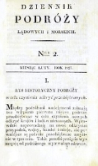 Dziennik Podróży Lądowych i Morskich. T. 1, nr 2 (1827)