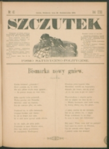 Szczutek : pisemko humorystyczne. R. 23, nr 42 (1891)