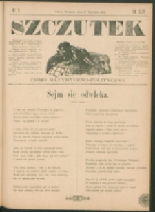 Szczutek : pisemko humorystyczne. R. 24, nr 3 (1892)