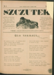 Szczutek : pisemko humorystyczne. R. 24, nr 6 (1892)