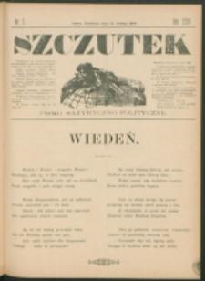 Szczutek : pisemko humorystyczne. R. 24, nr 7 (1892)