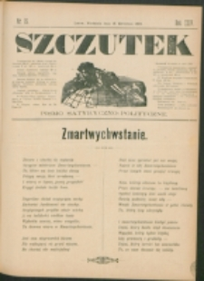 Szczutek : pisemko humorystyczne. R. 24, nr15 (1892)