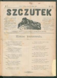 Szczutek : pisemko humorystyczne. R. 22, nr 6 (1890)