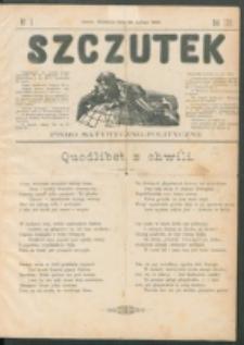 Szczutek : pisemko humorystyczne. R. 22, nr 7 (1890)