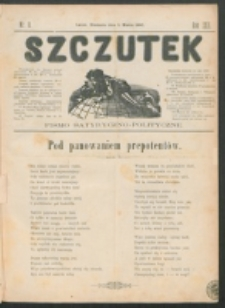 Szczutek : pisemko humorystyczne. R. 22, nr 8 (1890)