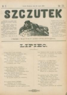 Szczutek : pisemko humorystyczne. R. 22, nr 27 (1890)