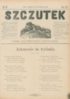 Szczutek : pisemko humorystyczne. R. 22, nr 33 (1890)
