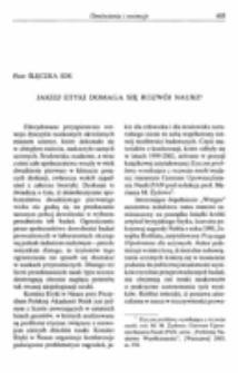 Jakiej etyki domaga się rozwój nauki? Recenzja : Etyczne problemy wynikające z rozwoju nauki, red. M. M. Żydowo, Centrum Upowszechniania Nauki PAN [Warszawa] 2003.