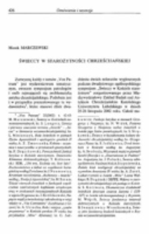 """Świeccy w starożytności chrześcijańskiej. Recenzja: """"Vox Patrum"""" 22(2002) t. 42-43."""