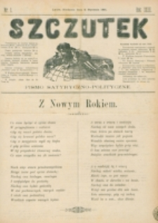 Szczutek : pisemko humorystyczne. R. 23, nr 1 (1891)