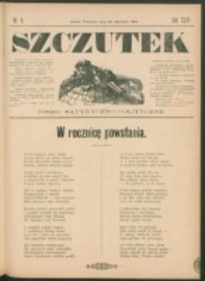 Szczutek : pisemko humorystyczne. R. 23, nr 4 (1891)