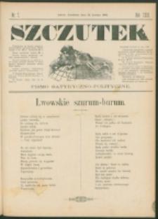 Szczutek : pisemko humorystyczne. R. 23, nr 7 (1891)