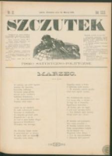 Szczutek : pisemko humorystyczne. R. 23, nr 12 (1891)