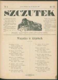 Szczutek : pisemko humorystyczne. R. 23, nr 16 (1891)