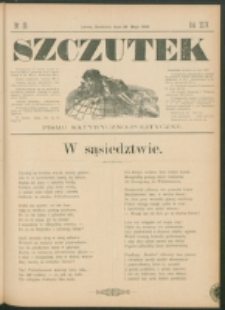 Szczutek : pisemko humorystyczne. R. 24, nr 20 (1892)
