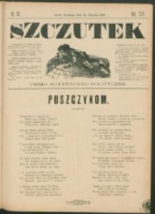 Szczutek : pisemko humorystyczne. R. 24, nr 22 (1892)