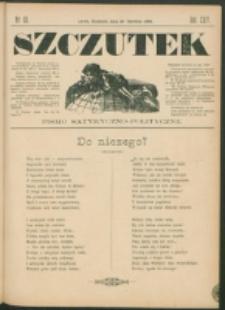 Szczutek : pisemko humorystyczne. R. 24, nr 23 (1892)