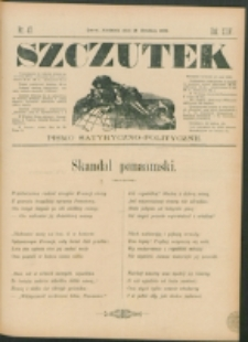 Szczutek : pisemko humorystyczne. R. 24, nr 47 (1892)