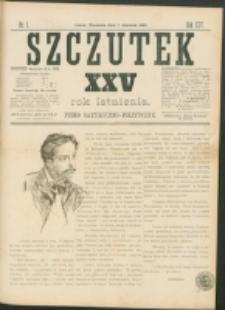 Szczutek : pisemko humorystyczne. R. 25, nr 1 (1893)
