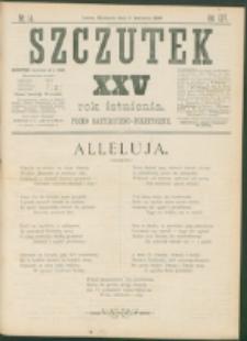 Szczutek : pisemko humorystyczne. R. 25, nr 14 (1893)