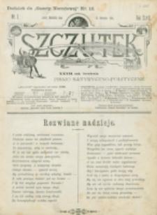 Szczutek : pisemko humorystyczne. R. 27, nr 1 (1895)