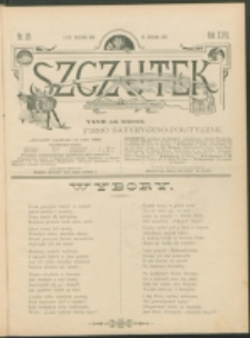Szczutek : pisemko humorystyczne. R. 27, nr 20 (1895)