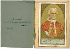 Pamiątka Jubileuszu 50-letniego kapłaństwa Ojca św. Leona XIII dnia 1. stycznia 1888, oraz Nowenna i modlitwy do dostąpienia odpustu Jubileuszowego / ułożona przez R. L.