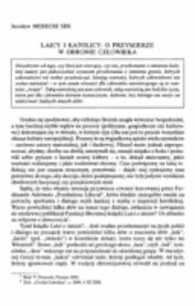 Laicy i katolicy: o przymierze w obronie człowieka.