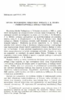 Istota natchnienia biblijnego według J. E. Kuhna - przedstawiciela szkoły tybińskiej.