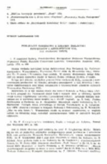 Publikacje książkowe z zakresu biblistyki profesorów i absolwentów KUL (rok akademicki 1972/73).