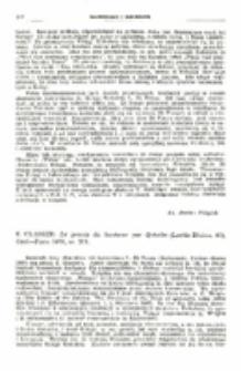 Recenzja : E. Glasser: Le procès du bonheur par Qohelet (Lectio Divina, 61), Cerf—Paris 1970, ss. 218.