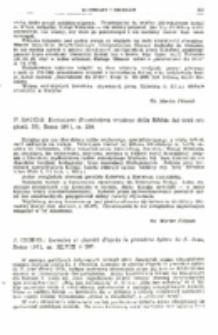 Recenzja : P. Sacchi Ecclesiaste (Nuovissima versione della Bibbia dai testi originali, 20), Roma 1971, ss. 224.