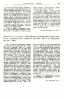Recenzja : Hugolin Langkammer OFM. Hymny chrystologiczne Nowego Testamentu. Najstarszy obraz Chrystusa. Katowice 1976 ss. 240 (Wydawnictwo Sw. Jacka).