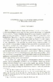 Koncepcja sądu w Starym Testamencie i w teologii Pawłowej.
