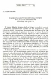 IX Międzynarodowy Kongres dla Studiów nad Starym Testamentem (Göttingen 21-26 V III 1977 R.).