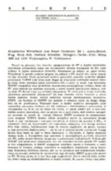 Recenzja : Exegetisches Wörterbuch zum Neuen Testament. Bd 1: Aaron-Henoch. Hrsg. Horst Balz, Gerhard Schneider. Stuttgart—Berlin—Köln—Mainz 1980 kol. 1134. Wydawnictwo W. Kohlkammer.