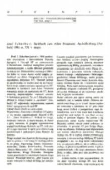 Recenzja : Josef Scharbert . Sachbuch zum Alten Testament. Aschaffenburg (Patloch) 1981 ss. 531 + mapy.