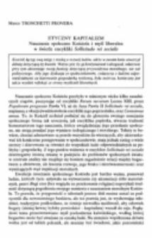 Etyczny kapitalizm. Nauczanie społeczne Kościoła i myśl liberalna w świetle encykliki Sollicitudo rei socialis.
