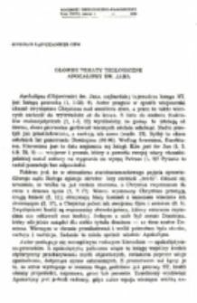 Główne tematy teologiczne Apokalipsy św. Jana.