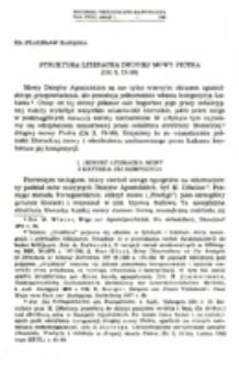 Struktura literacka drugiej mowy Piotra.