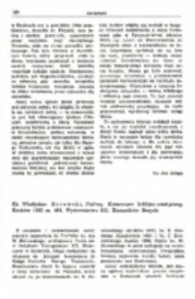 Recenzja : Ks. Władysław Borowski , Psalmy. Komentarz biblijno-ascetyczny. Kraków 1983 ss. 464. Wydawnictwo OO. Karmelitów Bosych.