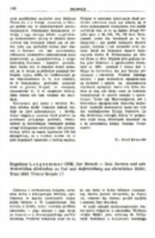 Recenzja : Hugolinus Langkammer OFM, Der Mensch — Sein Sterben und sein Weiterleben (Gedanken zu Tod und Auferstehung aus christlicher Sicht). Trier 1983. Trierer Scripte 17.