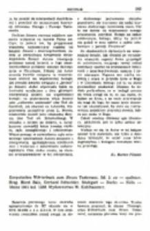 Recenzja : Exegetisches Wörterbuch zum Neuen Testament. Bd. 2: ex — opsōnion. Hrsg. Horst Balz, Gerhard Schneider. Stuttgart — Berlin — Koln — Mainz 1981 kol. 1358. Wydawnictwo W. Kohlhammer.