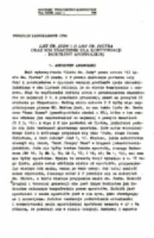 List św. Judy i II List św. Piotra oraz ich znaczenie dla kontynuacji doktryny apostolskiej.