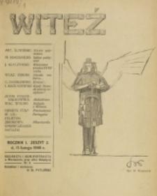 Witeź. R. 1, z. 2 (1908)