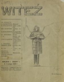 Witeź. R. 1, z. 1 (1908)
