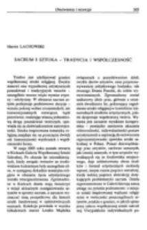 Sacrum i sztuka - tradycja i współczesność.