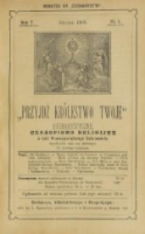 Przyjdź Królestwo Twoje Eucharystyczne. R. 5., nr 1 (1899)