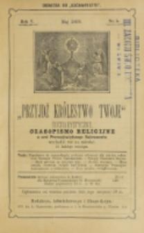 Przyjdź Królestwo Twoje Eucharystyczne. R. 5, nr 5 (1899)